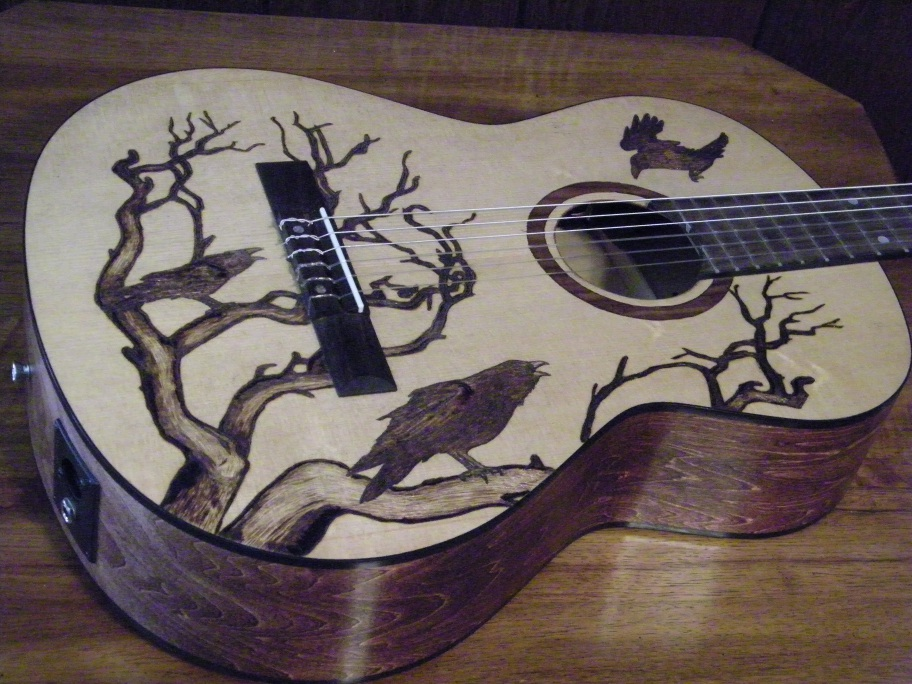The Pyrographic Wood Burn Artwork Was Designed By